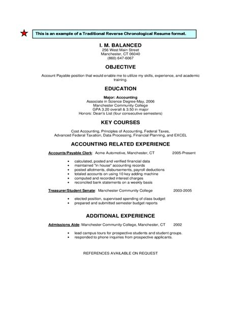 reverse chronological resume template word amitdhull co