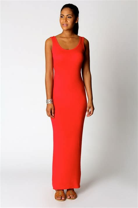 maxi jurken boohoo simpele jurken