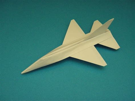 Jet Plane Origami - flyable origami f 16 falcon tutorial by ken hmoob