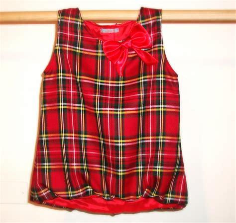 Blouse Tartan Top tartan sleeveless blouse blouse with
