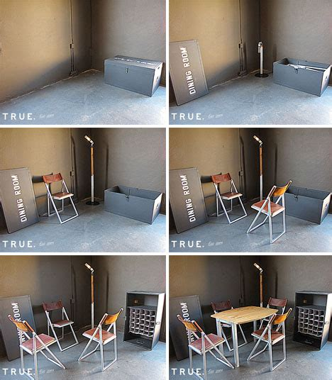 in a box furnishings unfold from tiny containers