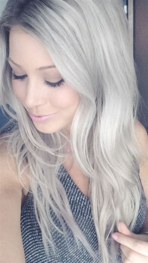 silvery blonde hair dye silver ash blonde hair color