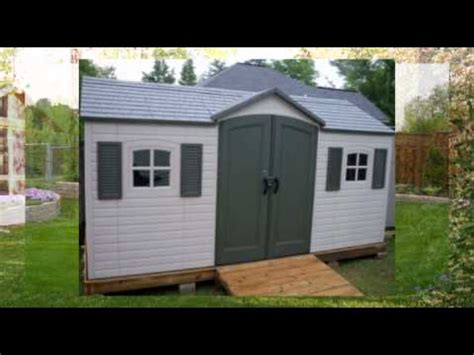 lifetime  outdoor storage shed youtube