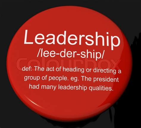 leadership definition button showing active management and achievement stock photo colourbox