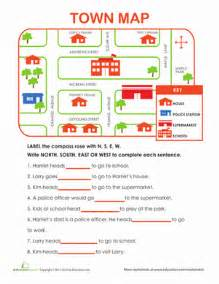map activities for us geography classes learning directions worksheet education