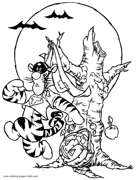 winnie the pooh halloween tigger coloring page halloween