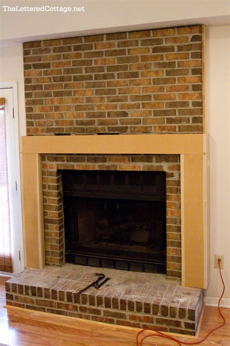 Large Brick Fireplace Makeover by 10 Fireplace Before And After Diy Projects