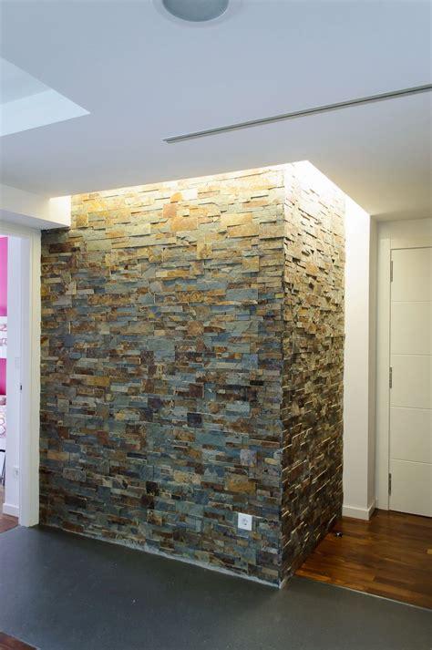 interiores de piedra detalle revestimiento de piedra decor