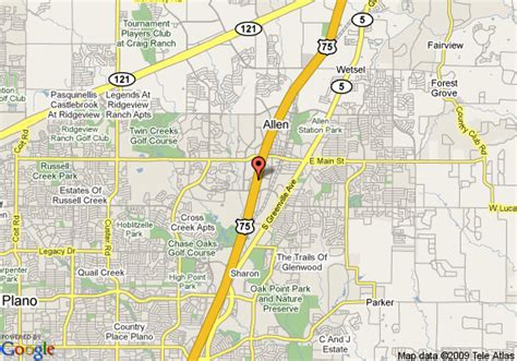 where is allen texas map map of pyramids hotel allen