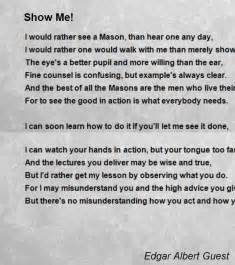 Show Me A Picture Of A Show Me Poem By Edgar Albert Guest Poem