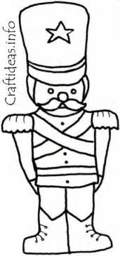 christmas coloring book page for kids toy soldier