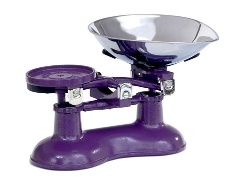 traditional kitchen scales purple coloured kitchen scales scales
