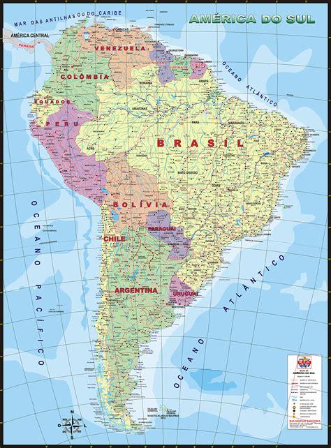 mapa a america do sul am 233 rica do sul pol 237 tico bia mapas mapas comerciais