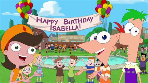 imagenes de happy birthday isabel buon compleanno isabella phineas e ferb wiki wikia