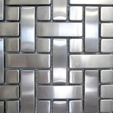 Glass Tiles For Kitchen Backsplashes Metal Mosaics Tile Metal Tile Dttiles Com