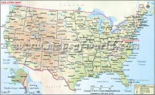 usa cities map cities in usa list of us cities map