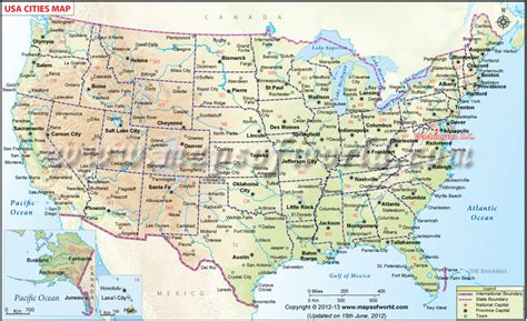 usa towns us map showing all the major cities of all these 50 states