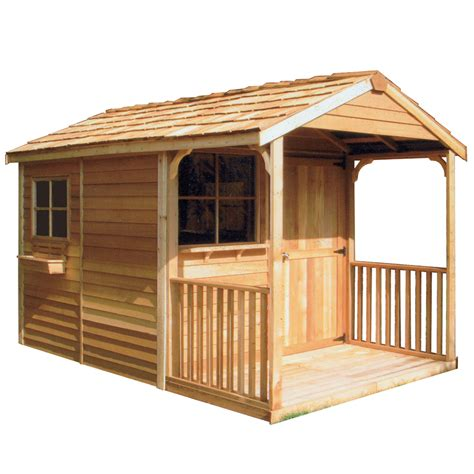 shed designer lowes shop cedarshed clubhouse gable cedar wood storage shed