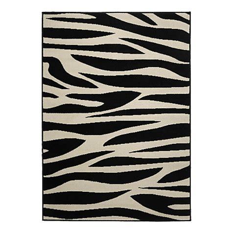 zebra pattern rug homemaker zebra pattern rug rugs door mats asda direct