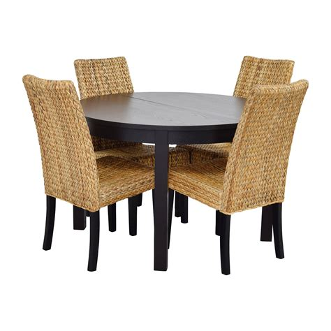 4 chair table set 66 macy s ikea black dining table set with