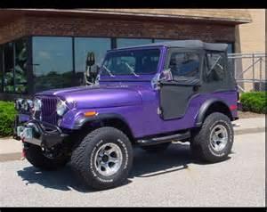 Purple Jeep Purple Jeep With Black Soft Top Stuff I