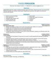 best mobile sales pro resume exle livecareer