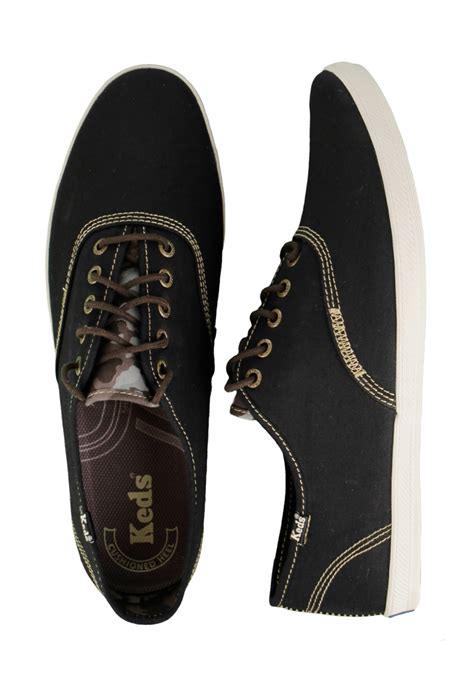 keds chion cvo army twill black shoes impericon