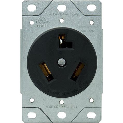 rpp 30a 3 wire dryer receptacle flush mount