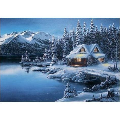 log cabin christmas winter scene log cabin winter scenes