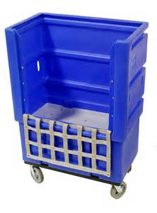 Spring Table Linens - laundry cart manufacturer unveils ergonomic bulk linen truck