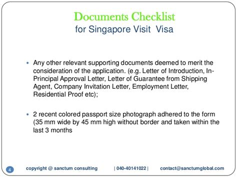 Guarantee Letter To Embassy Singapore Visit Visa Sanctumconsulting