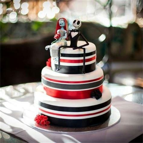 Skellington Cake Decorations by Nightmare Before Cake Wedding Ideas