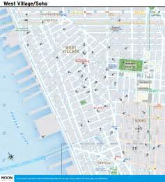 new york city map west and soho moon guides