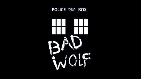 bad wolf doctor who bad wolf tardis black background wallpapers