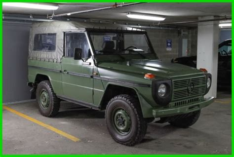 mercedes g wagon green 1988 mercedes benz 240gd 4x4 g wagon diesel military