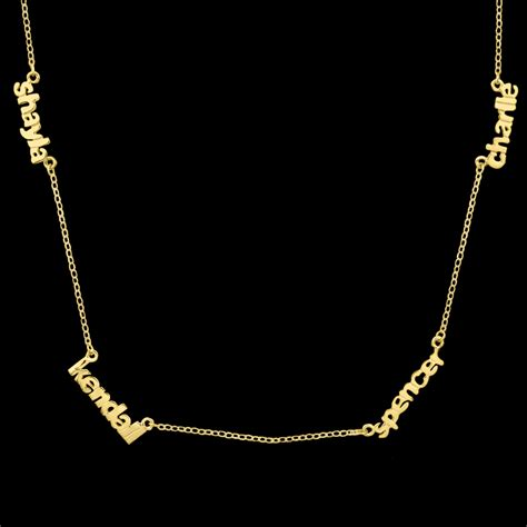 mini nameplate necklace