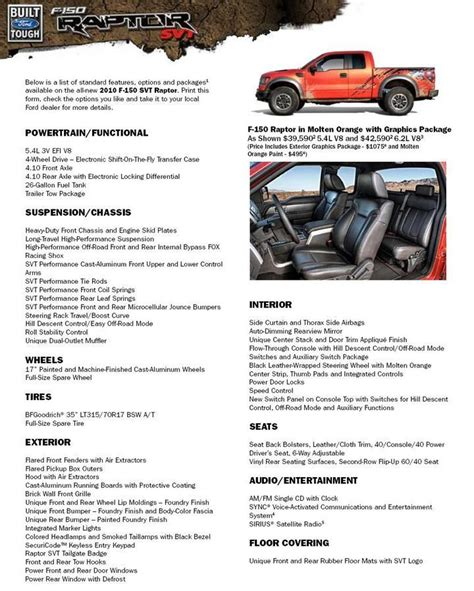 ford raptor dimensions 2010 ford f 150 raptor svt vintage and classic cars