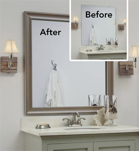 etched bathroom mirrors the quot before quot is a bare plate glass mirror the quot after quot a
