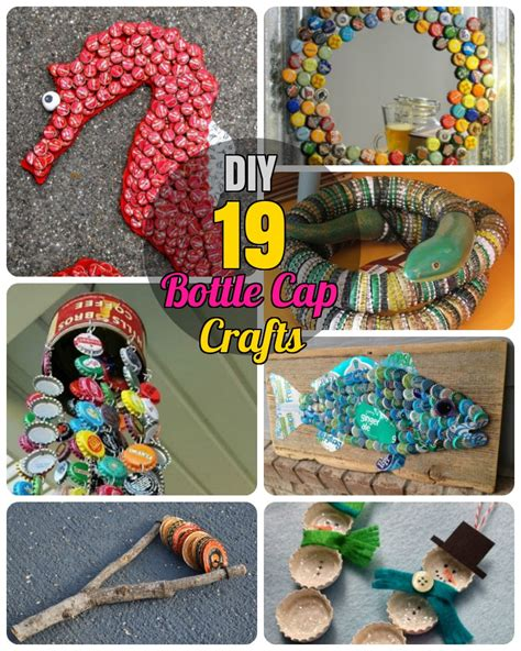 crafts diy projects 19 easy and striking diy bottle cap craft ideas diy