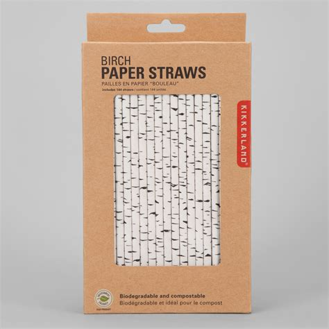 How To Make Paper Straws - kikkerland birch and bamboo paper straws the green
