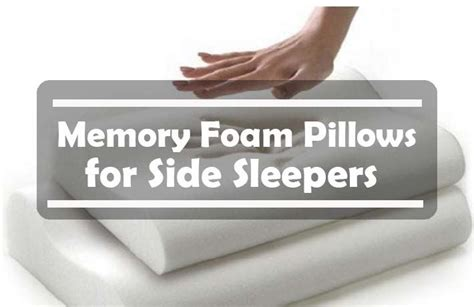 best memory foam pillow for side sleepers reviews top