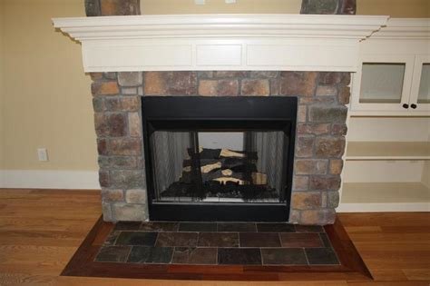 fireplace design ideas with stone new construction fireplace provided by classic tile 17