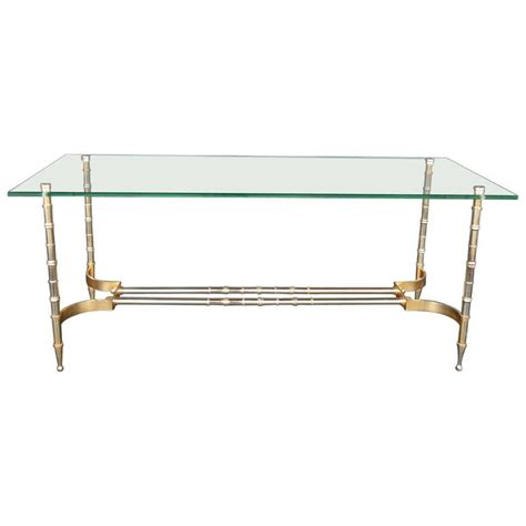faux bamboo table l faux bamboo coffee table at 1stdibs