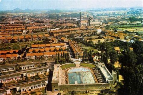 serre haillicourt vue ancienne de bruay en artois piscine et quartier de la