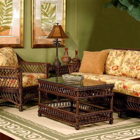 Sunroom Furniture Sets spice islands bar harbor wicker sunroom sofa set at hayneedle