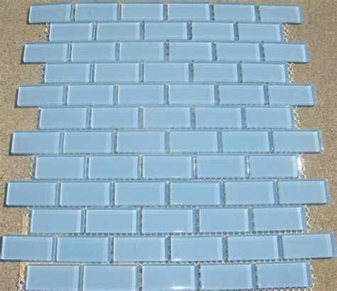 light blue tiles bathroom b25 light aqua blue subway glass mosaic tile