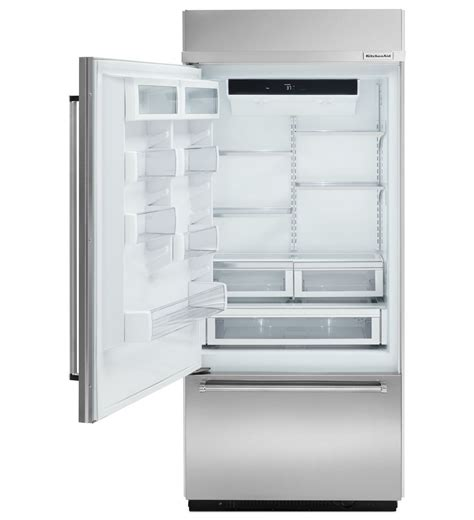 Kitchenaid Fridge Built In 36 Kitchenaid Built In Stainless Bottom Mount Refrigerator