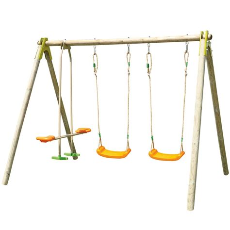 double swing and glider set trigano jardin choupy double swing and glider set all