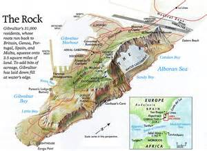 map of rock gibralter the rock map gibralter mappery