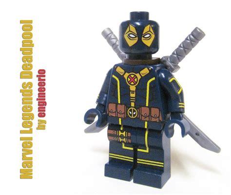 Custom Marvel Heroes lego custom legends deadpool blue marvel